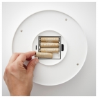 СТЁТТА Светодиодн потолочн светильник/бра, с батарейным питанием белый