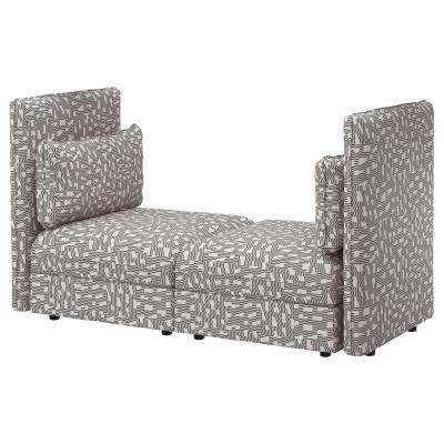 ВАЛЛЕНТУНА 2-местный диван, Фуннарп черный/бежевый