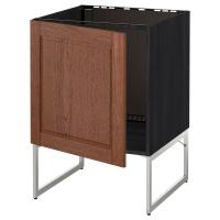 МЕТОД Напольный шкаф для раковины, черный, Филипстад коричневый