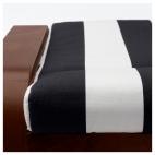 ПОЭНГ Табурет для ног, классический коричневый, Стенли черный/белый