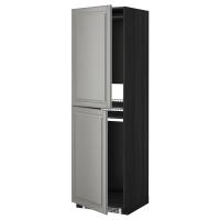 МЕТОД Высок шкаф д холодильн/мороз, черный, Будбин серый