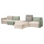 ВАЛЛЕНТУНА 5-местный диван, Мурум бежевый, Хилларед зеленый
