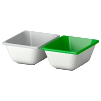 ВАРЬЕРА Контейнер, зеленый, серый