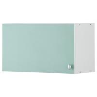 АЛЬБРУ Навесной шкаф с дверцей, светло-зеленый