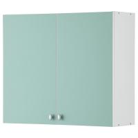 АЛЬБРУ Навесной шкаф с дверями, светло-зеленый
