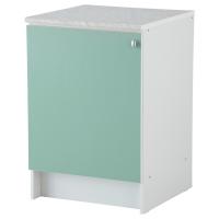 АЛЬБРУ Напольный шкаф с дверью, светло-зеленый