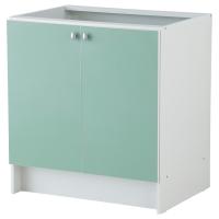 АЛЬБРУ Шкаф под мойку, светло-зеленый