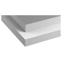 ХЭЛЛЕСТАД Столешница, двусторонняя, белый, под алюминий с окантовкой под металл