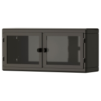 РОСКУГ Шкаф навесной, темно-серый, стекло