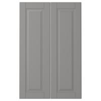 БУДБИН Дверца д/напольн углового шк, 2шт, серый
