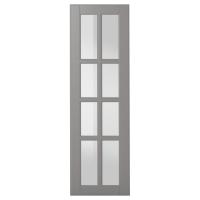 БУДБИН Стеклянная дверь, серый