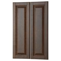 ДАЛАРНА Дверца д/напольн углового шк, 2шт, темно-коричневый