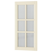 ДАЛАРНА Стеклянная дверь, белый с оттенком