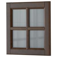 ДАЛАРНА Стеклянная дверь, темно-коричневый