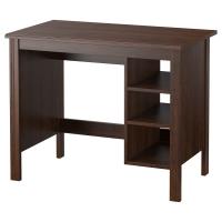 БРУСАЛИ Письменный стол, коричневый