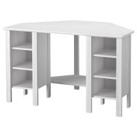 БРУСАЛИ Угловой письменный стол, белый