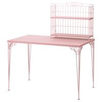 ФАЛЬКХОЙДЕН Стол с дополнительным модулем, розовый