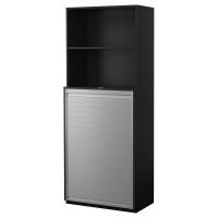 ГАЛАНТ Комбинация д/хран с дверцей-шторой, черно-коричневый черно-коричневый