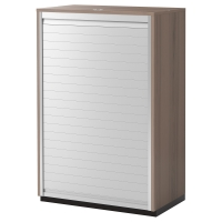 ГАЛАНТ Шкаф с дверью-шторой, серый
