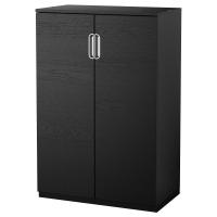 ГАЛАНТ Шкаф с дверями, черно-коричневый
