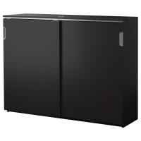 ГАЛАНТ Шкаф с раздвижными дверцами, черно-коричневый