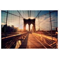 БЬЁРКСТА Картина, Бруклинский мост на закате