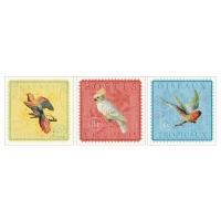 ПЬЕТТЕРИД Картина, 3 шт, экзотические птицы