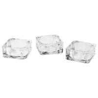 ГЛАСИГ Подсвечник, прозрачное стекло