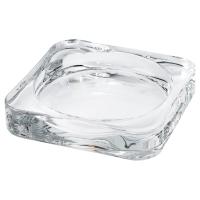 ГЛАСИГ Тарелка для свечи, прозрачное стекло