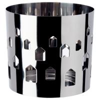 ВАККЕРТ Украшение д/свечи в стеклян стакане, нержавеющ сталь, дома