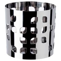 ВАККЕРТ Украшение д/свечи в стеклян стакане, нержавеющ сталь лист
