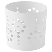 ВАККЕРТ Украшение д/свечи в стеклян стакане, цветок, белый