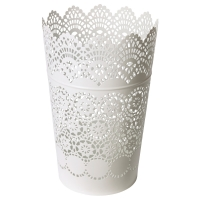 СКУРАР Фонарь для формовой свечи, белый