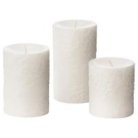 КОРНИГ Формовая свеча, ароматическая, 3 шт, Розовый сад, белый