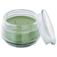 ЛУГГА Ароматическ свеча в стакане,2фитиля, Летний луг зеленый