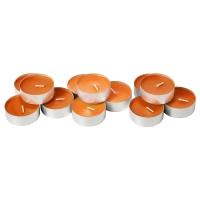 СИНЛИГ Аромат свеча в метал подставке, Солнечный мандарин оранжевый, оранжевый