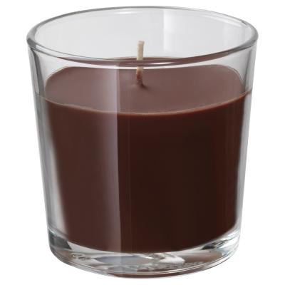 синлиг ароматическая свеча в стакане коричневый купить в интернет