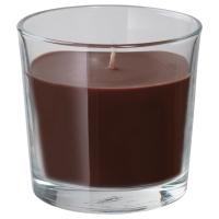 СИНЛИГ Ароматическая свеча в стакане, коричневый