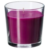 СИНЛИГ Ароматическая свеча в стакане, Цветение сиреневый, сиреневый