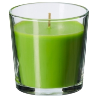 СИНЛИГ Ароматическая свеча в стакане, Зеленое яблоко зеленый, зеленый