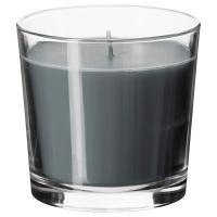 СИНЛИГ Ароматическая свеча в стакане, эффект спа серый, серый