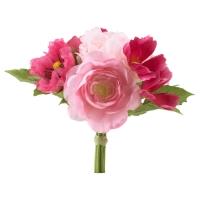 СМИККА Цветок искусственный, букет, розовый