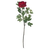 СМИККА Цветок искусственный, Пион, красный