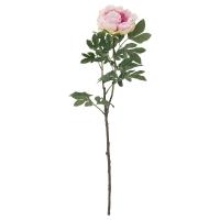 СМИККА Цветок искусственный, Пион, светло-сиреневый