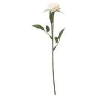 СМИККА Цветок искусственный, Роза, белый