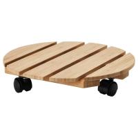 ВИЛЬДАПЕЛЬ Подставка на колесах, бамбук