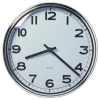 ПУГГ Настенные часы, нержавеющ сталь хромированный