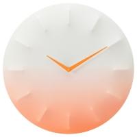 СПРАЛЛИС Настенные часы, белый, оранжевый