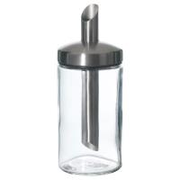 ДОЛЬД Дозатор сахара, прозрачное стекло, нержавеющ сталь