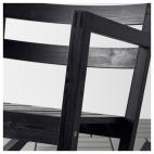 ВЭРМДЭ Кресло-качалка, д/дома/улицы, черно-коричневый черный черно-коричневая морилка